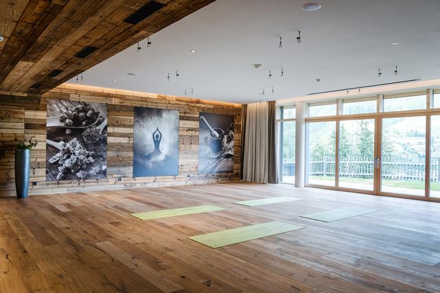 Yoga Reisen Hotel Goldberg Yoga Raum